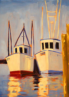 Painting - Summer Sun Ships by Nancy Merkle