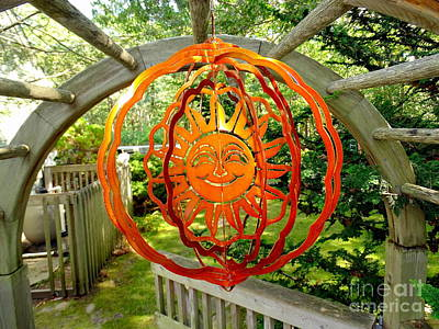 Photograph - Summer Sun Wind Spinner by Ed Weidman