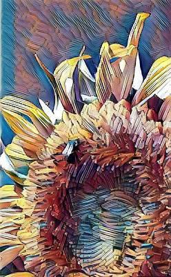 Digital Art - Summer Sunflower by Caryl J Bohn
