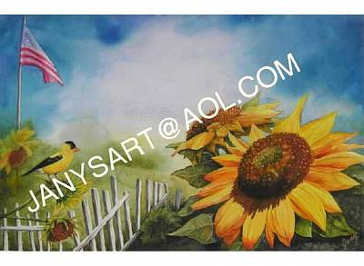 Painting - Summer Sunflowers by Jany Schindler
