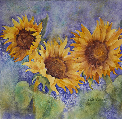 Painting - Summer Sunflowers by Lisa Vincent
