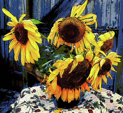Photograph - Summer Sunflowers by Natalie Holland