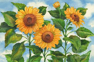 Sunflower Painting - Summer Sunflowers by Paul Brent