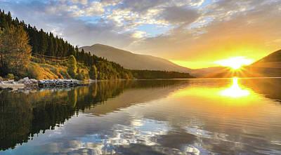 Kootenay Lake Photograph - Summer Sunrise by Joy McAdams