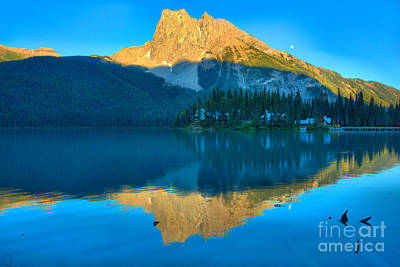 Photograph - Summer Sunset At Emerald Lake by Adam Jewell