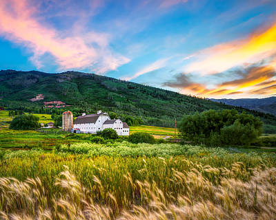 Summer Sunset At Park City Barn Art Print