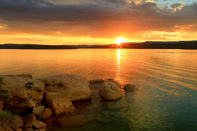 Photograph - Summer Sunset At Starvation Reservoir. by Johnny Adolphson