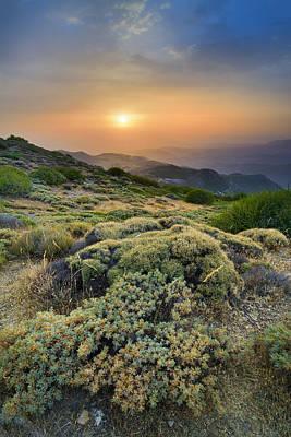 Summer Sunset At The Mountains Art Print