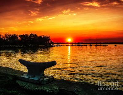 Summer Sunset At The Riverview Art Print