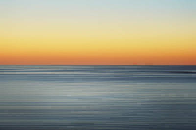 Abstract Beach Landscape Photograph - Summer Sunset by Az Jackson