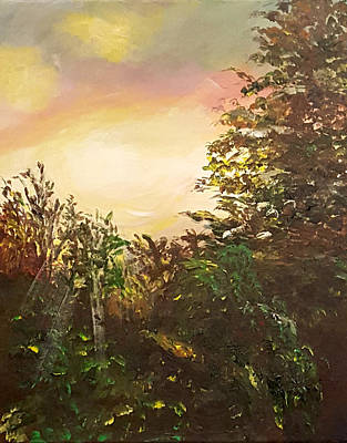 Painting - Summer Sunset by Donna Cervelli