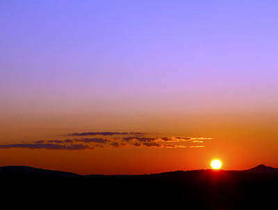 Art Print featuring the photograph Summer Sunset by Gary Smith