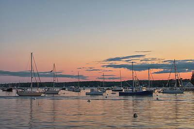 Summer Sunset In Boothbay Harbor Art Print