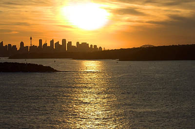 Photograph - Summer Sunset In Sydney by Miroslava Jurcik