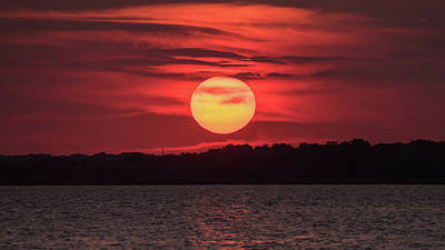 Photograph - Summer Sunset July Jersey Shore  by Terry DeLuco