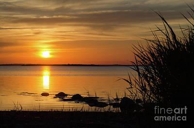 Art Print featuring the photograph Summer Sunset by Kennerth and Birgitta Kullman