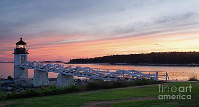 Photograph - Summer Sunset, Marshall Point Light, Port Clyde, Maine  -87444 by John Bald