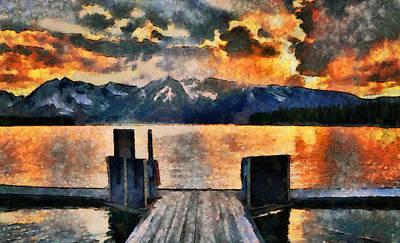 Painting - Summer Sunset On Colter Bay by Dan Sproul