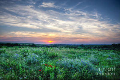 Photograph - Sunset On The Flying W Ranch by Jean Hutchison