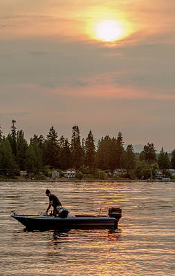 Photograph - August Sunset On Yukon Harbor.3 by E Faithe Lester
