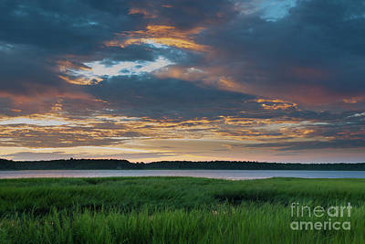 Photograph - Summer Sunset Over The Wando River by Dale Powell