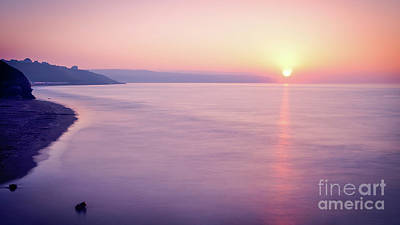 Cal Photograph - Summer Sunset Whitby by Janet Burdon