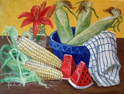 Painting - Summer Supper by Laura Aceto