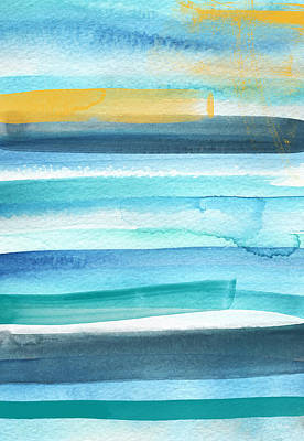 Mixed Media - Summer Surf 2- Art By Linda Woods by Linda Woods