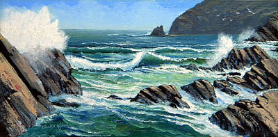 Painting - Summer Surf by Frank Wilson
