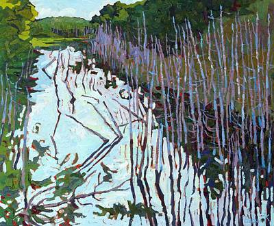 Swamp Oil Painting - Summer Swamp by Phil Chadwick