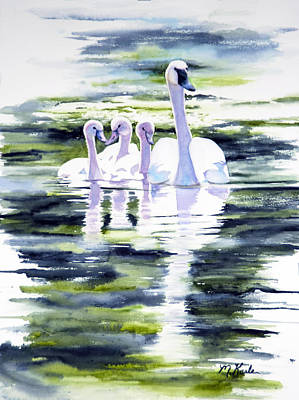 Painting - Summer Swans by Marsha Karle