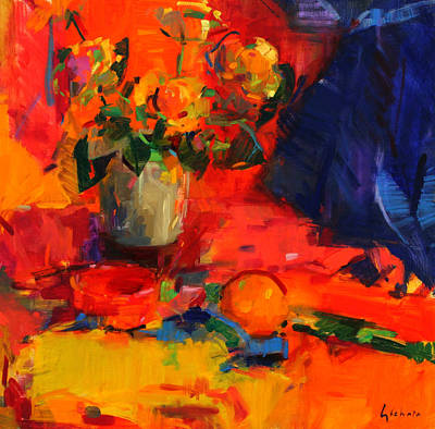 Warm Colors Painting - Summer Table by Peter Graham