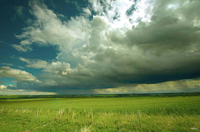 Photograph - Summer Thunderstorm Near Cochran by Philip Rispin