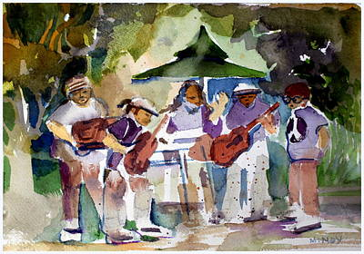 Music Paintings - Summer Time Music by Mindy Newman