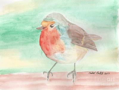 Summer Time Robin Art Print by Isabel Proffit