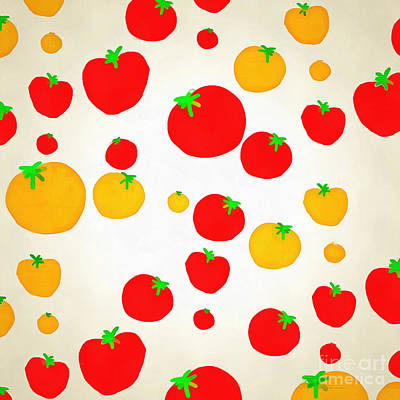 Summer Tomato Shower Art Print by Edward Fielding