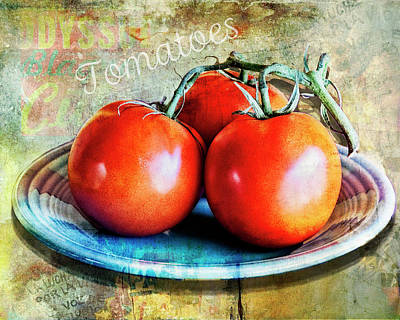 Digital Art - Summer Tomatoes by Sandra Selle Rodriguez