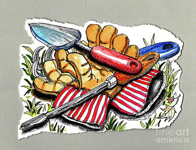 Painting - Summer Tools by Terry Banderas