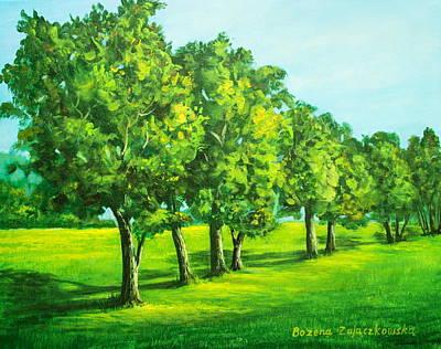 Painting - Summer Trees by Bozena Zajaczkowska