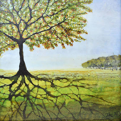 Painting - Summer Trees by Jennifer  Creech