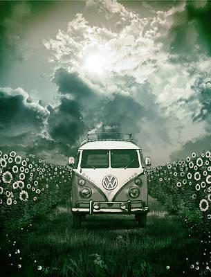 Hippie Van Painting - Summer Trip 3 by Bekim Art
