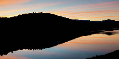 Photograph - Summer Twilight Panorama by Alan L Graham