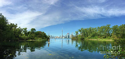 Photograph - Summer View From Toronto Island by Nina Silver