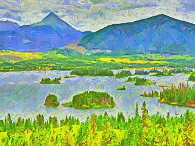 Digital Art - Summer View Of Lake Dillon In The Colorado Rocky Mountains by Digital Photographic Arts