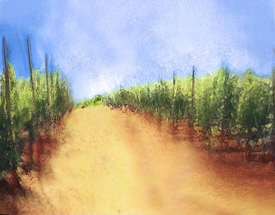 Summer Vineyard Original by Eve Holloran