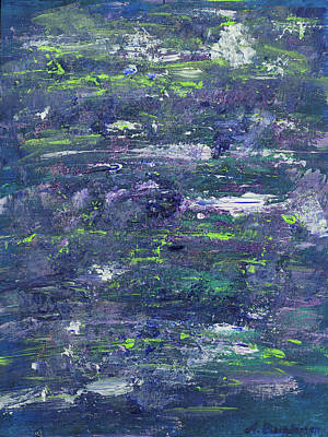 Painting - Summer Water Garden by Angela Bushman