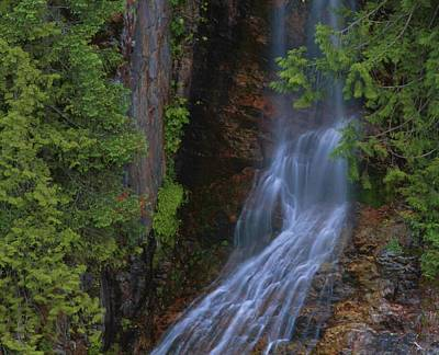Photograph - Summer Waterfall In North Cascades by Dan Sproul