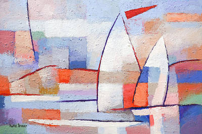 Sailboat Painting - Summer Waters by Lutz Baar