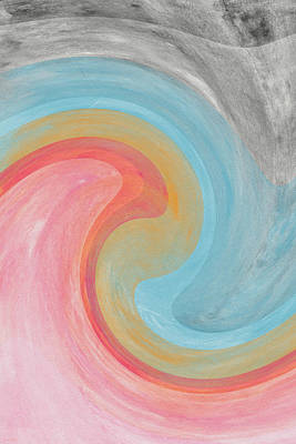 Summer Waves- Abstract Art By Linda Woods Art Print by Linda Woods