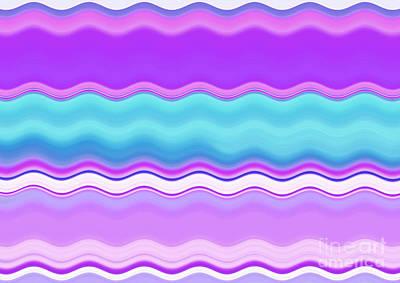 Digital Art - Summer Waves by Krissy Katsimbras
